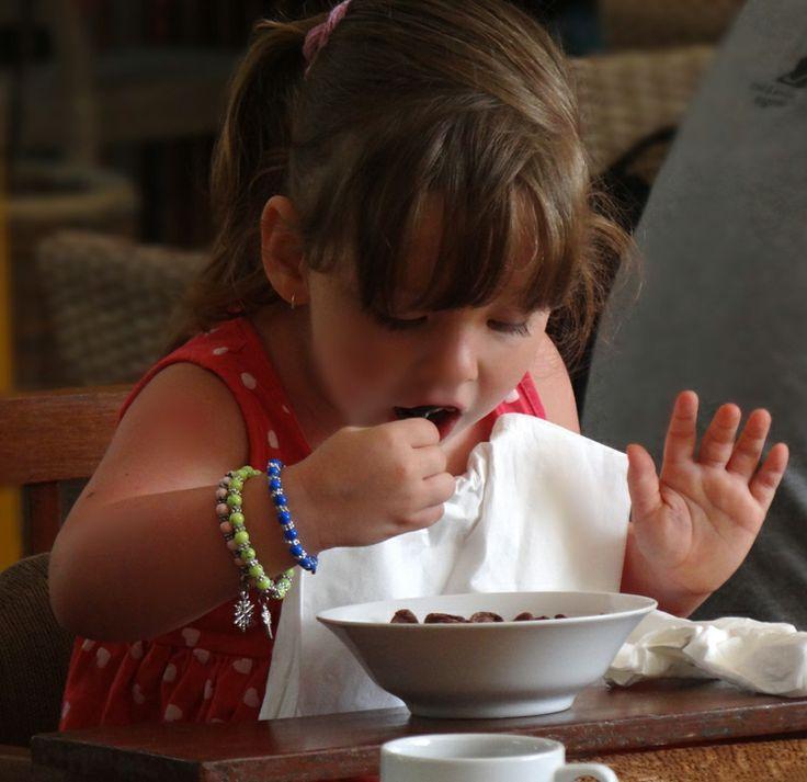 Cute kid #breakfast time