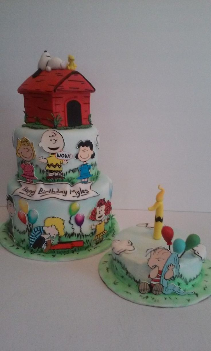 Snoopy Birthday Cake made by Dazzling Sweets Peanuts, Charlie Brown.