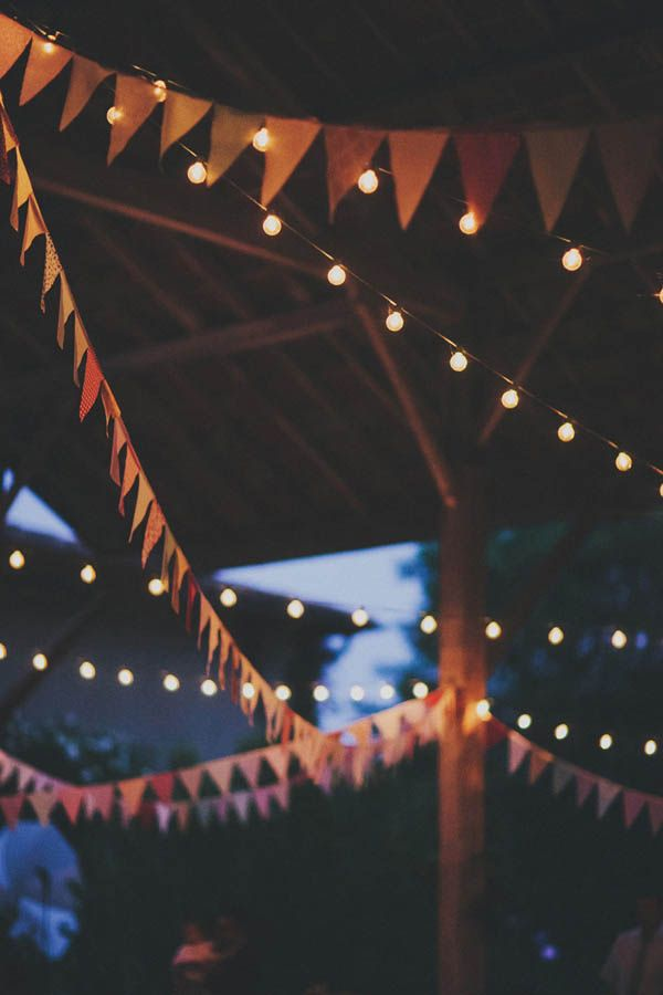 Bunting! So cute for a wedding @trinity jackson jackson Tree Farm Special Events in Issaquah, WA