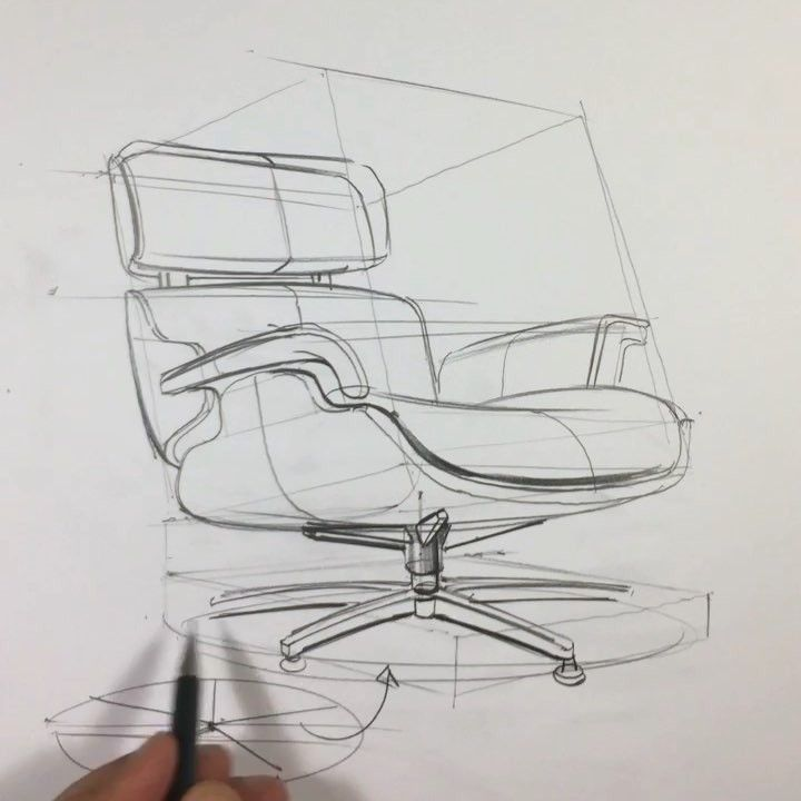 Stuhldesign Skizze Und Technik Stuhl Mobel In 2020 Furniture Design Sketches Drawing Furniture Design Sketch