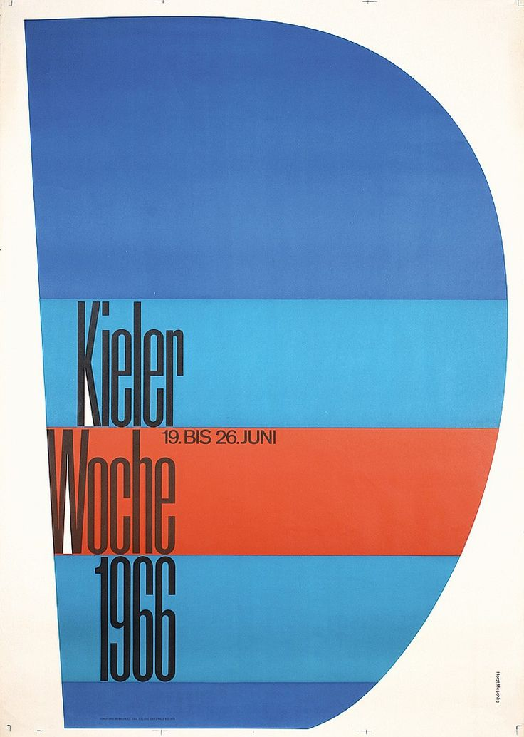 Meschke, Horst. Kieler Woche. Lithograph 1966. Size: 48.4 x 34.2 in. (123 x 87 cm). Printer: Emil Hackhe, Kiel. Condition Details: (A-/B+) minimal tears and staining at the edges, tiny loss at the left edge.