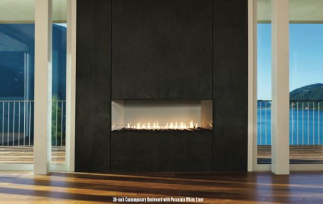 Millivolt System or Intermittent Pilot 38,000 Btu Linear and Curved Burner Options Matte Black Interior...