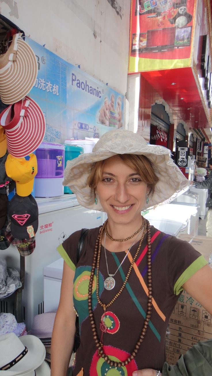 Strange hats in Tibet