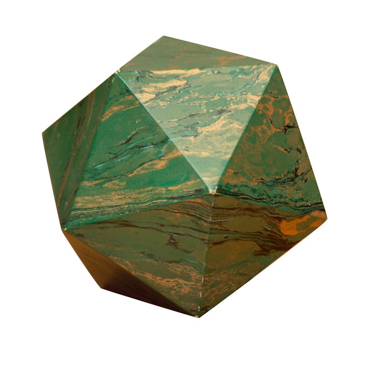 A Marblized Polyhedron Weight