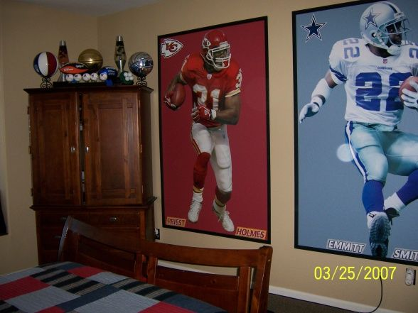Sports Nut This Creative Mom Used Big Fathead Stickers On