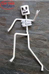 Learn about bones, joints, and the spine with this fun and easy craft! Found on the Our Time to Learn blog - human body craft and activity ideas - preschool, kindergarten, home school, anatomy