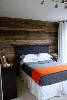 Revestir la pared de una habitación con listones de madera | Muebles De Palets