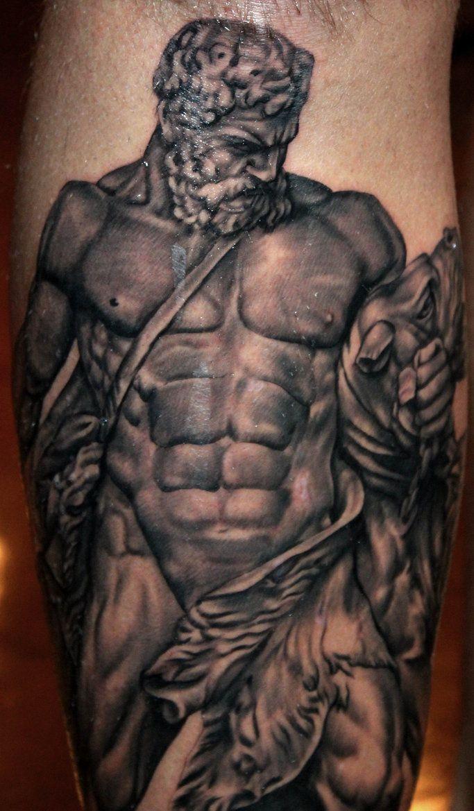 Hercules and Cerberus by mrstaggerlee