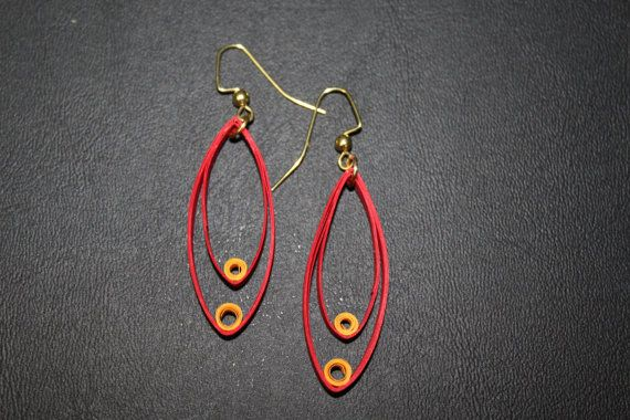 Paper Quilled Earrings Paper Quilling by AakritiArtsAndCrafts