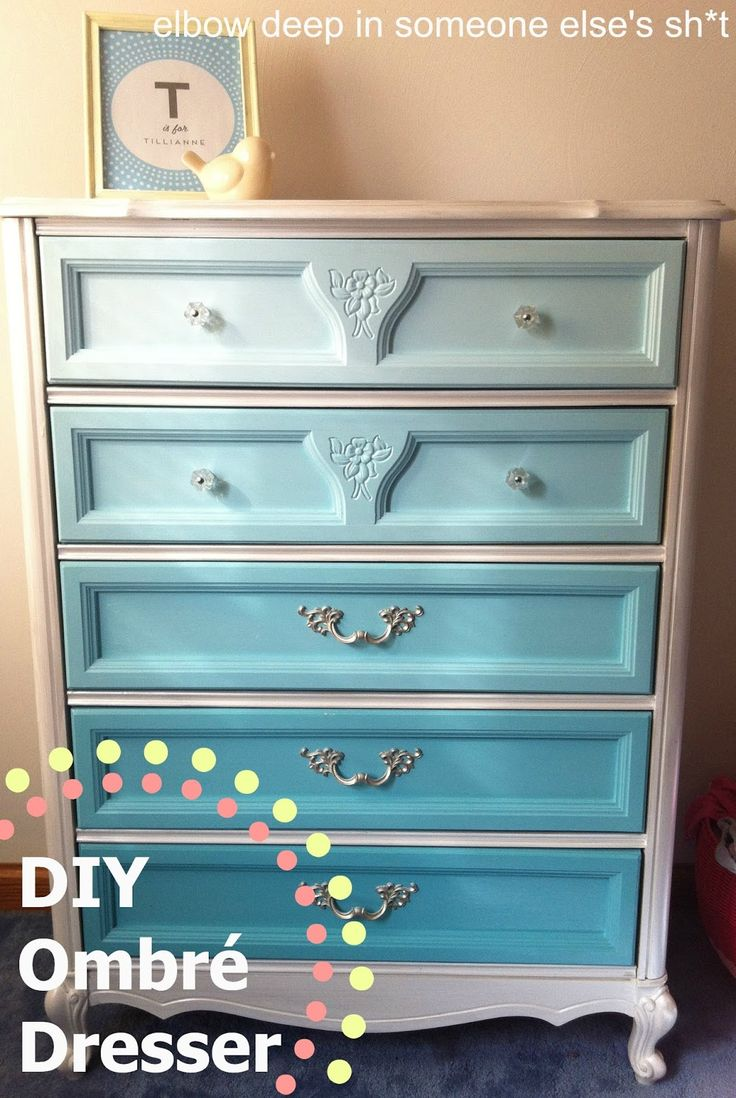 Painted Dresser Ideas 129 best ombre painted furniture images on pinterest | painted