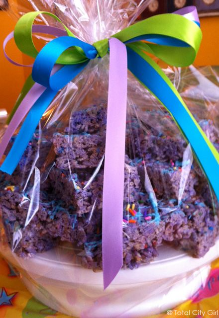 Purple Rice Krispie Treats - Perfect for Spring