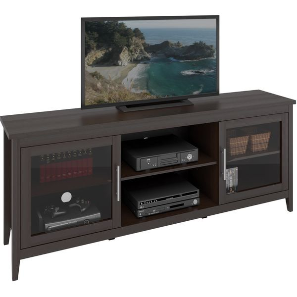 CorLiving TFP 684 B Jackson 71 Inch Extra Wide TV Bench For TVs Up To 80  Inches (Espresso   Espresso Finish), Brown
