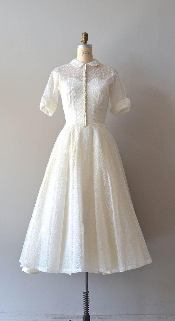 1950s wedding dress / 50s wedding dress / Conte by DearGolden, $775.00