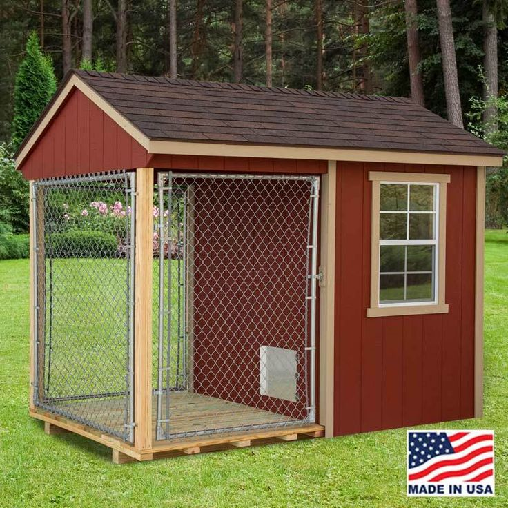 Dog kennel 6 x 10 with outside run ez fit sheds wilmot for Dog kennels for sale in ohio