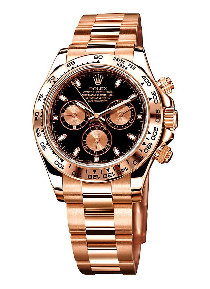 fbbd4014838c7  Rolex Cronograph Daytona  Everose. Relojes Negros De Los HombresAccesorios  ...