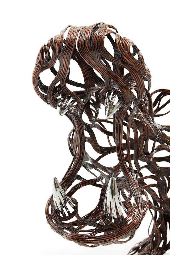 Les Sculptures animalières de Bandes métalliques de Sung Hoon Kang (6)
