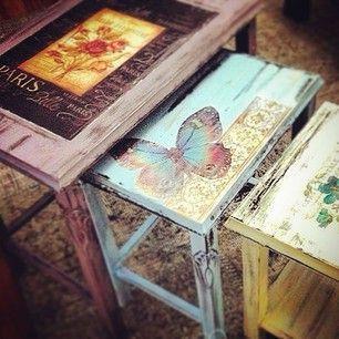 Vecchi tavolini e sgabelli che diventano capolavori Shabby - Il blog italiano sullo Shabby Chic e non solo