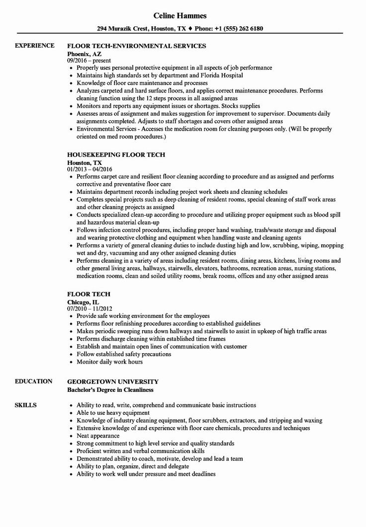 Environmental Services Job Description Resume Awesome