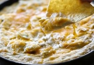 Chile Verde Chicken Cheddar Dip from chef-in-training.com ...An easy, quick and delicious dip that is a total crowd pleaser!