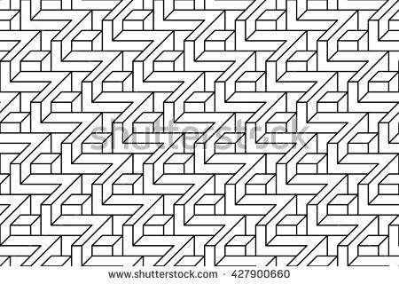 simple volume geometric vector pattern