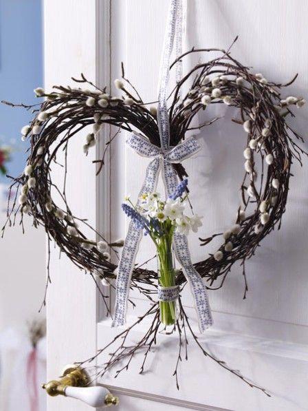 78 best images about fr hlingsideen on pinterest ikea stockholm lily of the valley and basteln - Weidenkatzchen deko ...