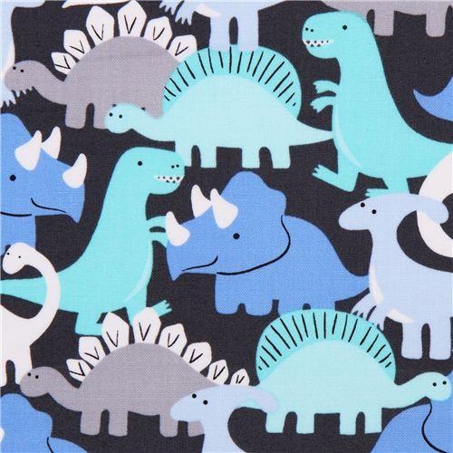 grey dinosaur fabric boy Michael Miller Dino-Mites 2