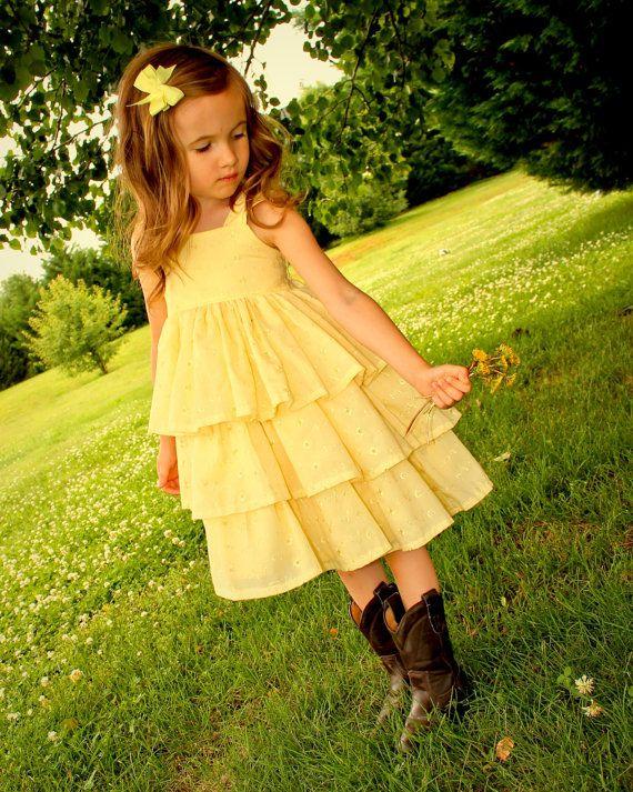 Best 25  Yellow flower girl dresses ideas on Pinterest   Yellow ...