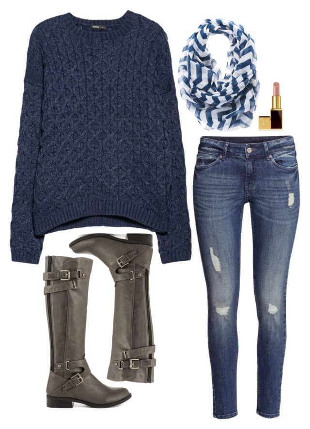 Haley James Scott Inspired Outfit by daniellakresovic on Polyvore featuring MANGO, H&M, G by Guess and Tom Ford