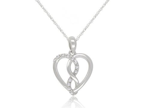 "White Gold Diamond Heart Pendant and Chain Lady's 10k white gold diamond heart pendant with chain  Diamond weight: 0.05 carat total  Chain length: 18""  Weight: 1.7 grams  Check out our jewellery here: https://hwilliamsjewelleryshop.com/collections/all-products/products/white-gold-diamond-heart-pendant-and-chain"