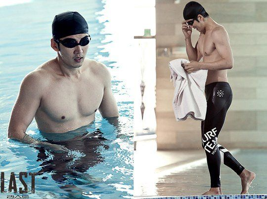 """""""Last"""" Yoon Kye-sang in a swim suit, showing off his muscles @ HanCinema :: The Korean Movie and Drama Database"""