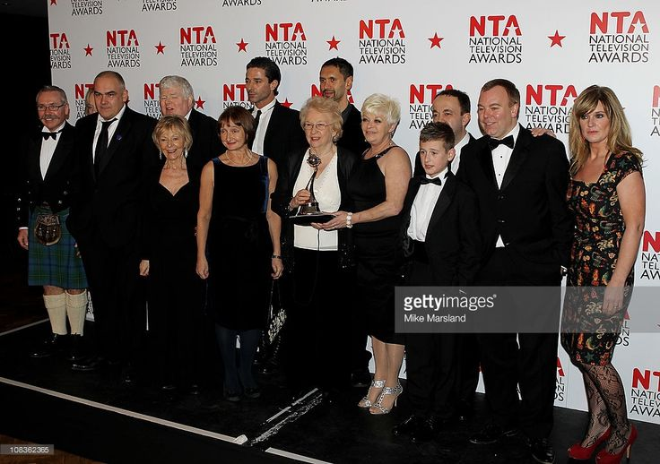 Cast of 'Benidorm' pose in the press room at the The National Television Awards at the O2 Arena on January 26, 2011 in London, England.