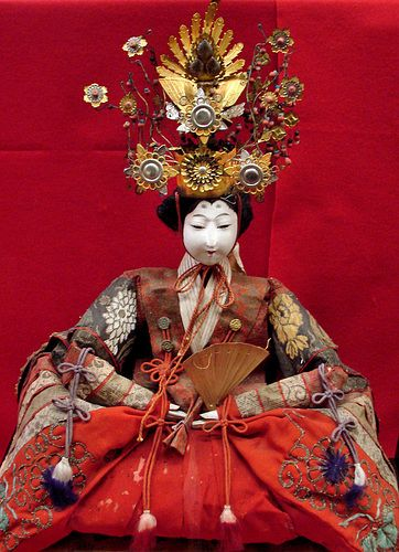 This is one of the more than 1000 Hina dolls on display at the Nagashibina Doll Museum in Mochigase Town, Tottori.