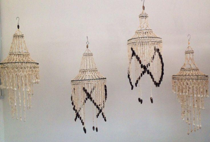 Lámparas de concha originales de BALI!!!