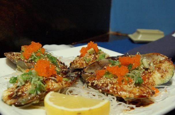Foodista | Baked Green Mussels in Dynamite Sauce