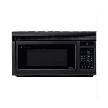 Sharp 1.1 Cu. Ft. 850 Watt Over the Range Convection Microwave Oven in Black