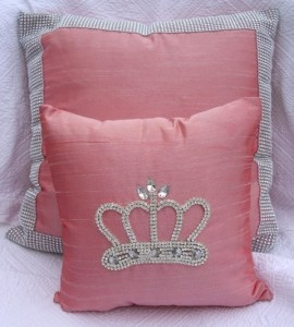 Pink Bling Crown Pillows - perfect for my Princess Bedroom!