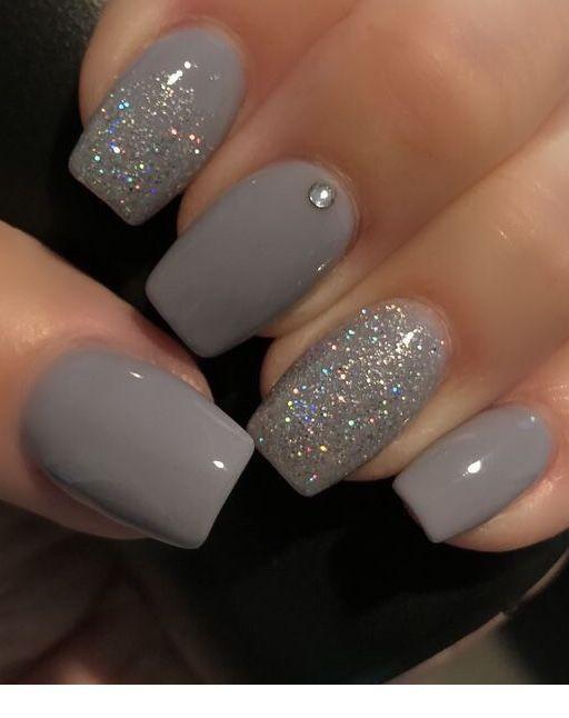 Graue kurze Nägel, die ich als nächstes haben muss Inspirierende Damen #Nägel
