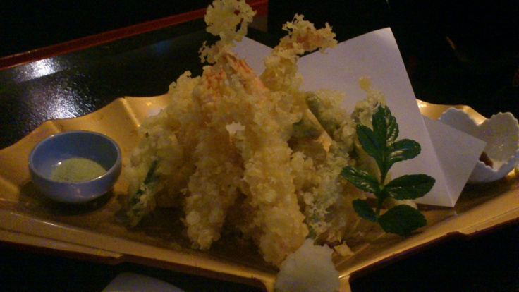 Mixed Tempura 天婦羅盛合わせ 2 prawns, 6 seasonal organic vegetables, 2 Scallop, 2 fish, Sansui Japanese Restaurant, Auckland CBD, Auckland, New Zealand