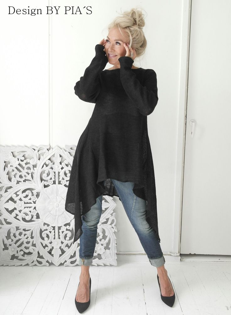 BYPIAS Amalfi Queen tunic, knitted 100% linen www.bypias.com
