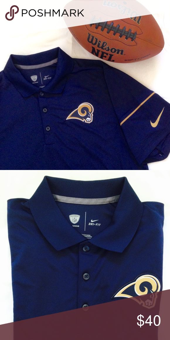 LA Rams Polo NWOT. Brand new and never worn. Nike Dri-Fit navy polo. Great for football season and for LA Rams fan! Nike Shirts Polos