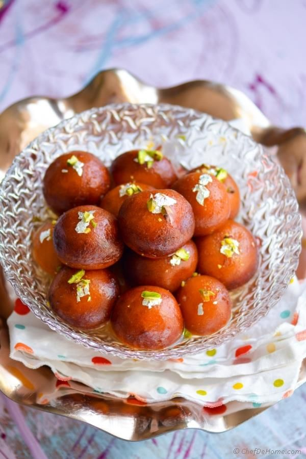 Easy Indian Sweets at home Gulab Jamun Recipe