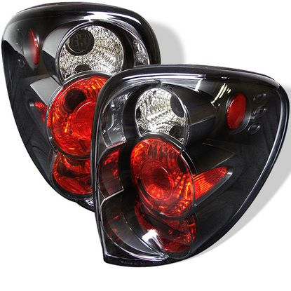 2001-2007 Dodge Caravan, Grand Caravan, Chrysler Town & Country / 2000-2003 Chrysler Voyager Euro Style Tail Lights - Black