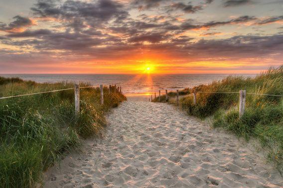 Nieuw in mijn Werk aan de Muur shop: Zonsondergang Texel, nabij De Koog