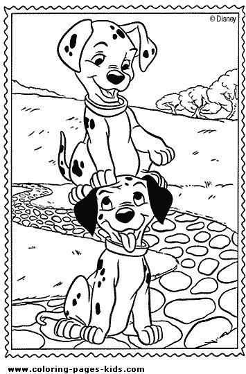 101 Dalmations Coloring Page Disney Pages Color Sheet