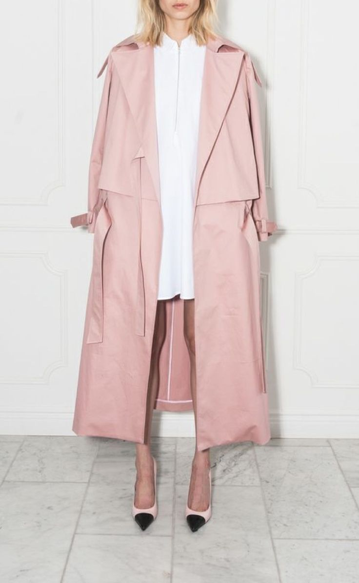 pink trench coats