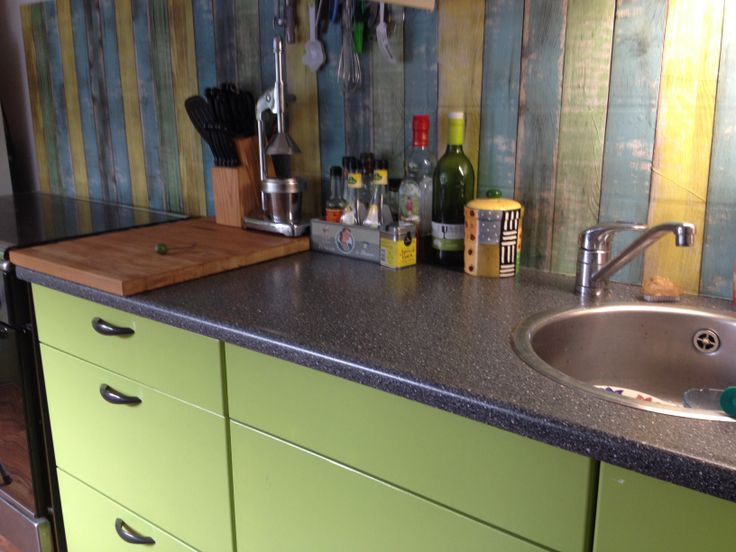 Keuken gepimpt met plakfolie