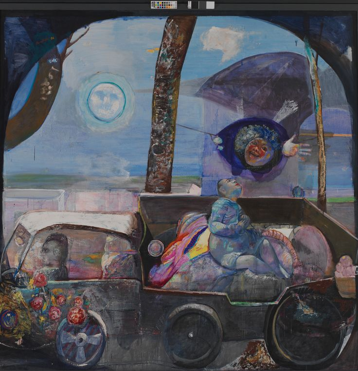 https://flic.kr/p/763HVo | Edouard Sacaillan, Gypsies, oil on canvas, 200cm x 200cm, 1986 Εδουάρδος Σακαγιάν, Οι τσιγγάνοι, λάδι σε καμβά