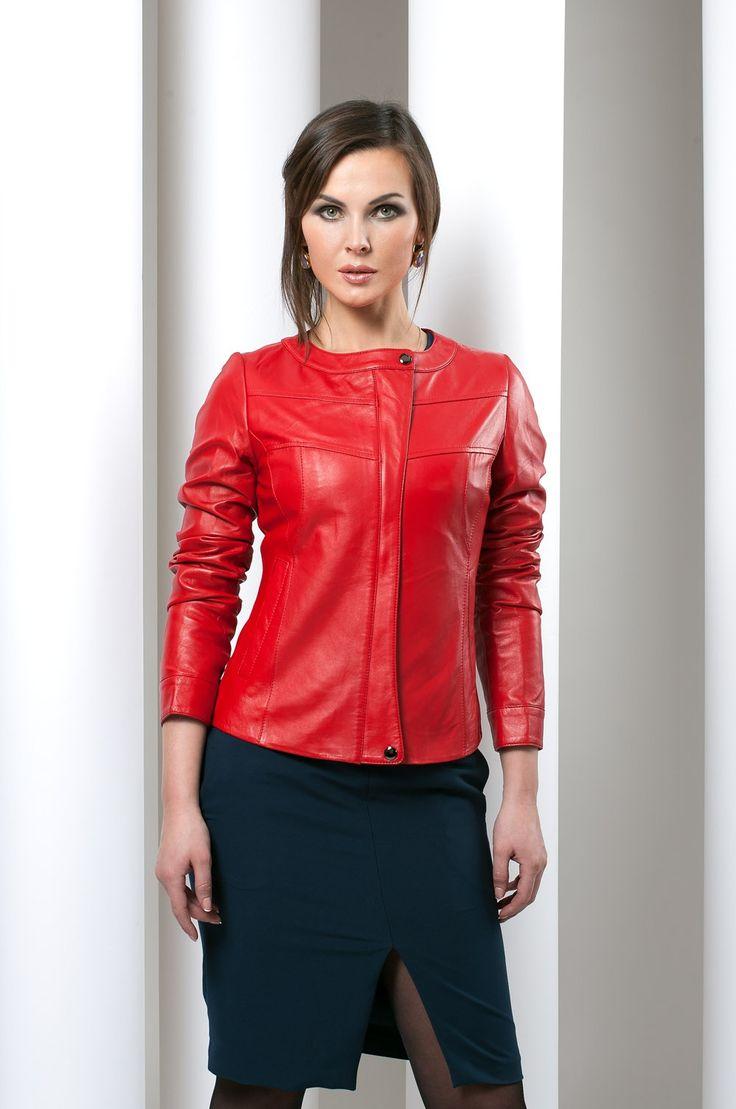 Женская кожанная куртка на меху 1542 просмотров