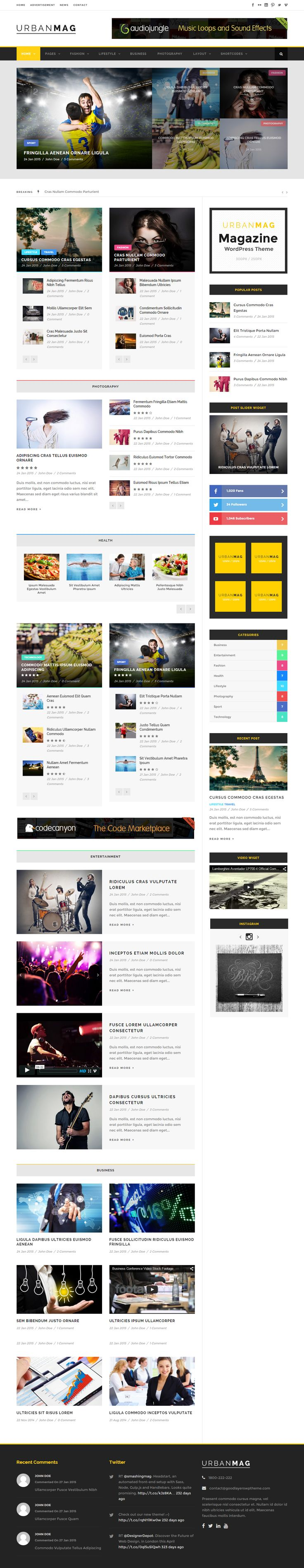 Urban Mag is Premium full Responsive Retina WordPress Magazine Theme. WooCommerce. Mega Menu. Parallax Scrolling. Drag & Drop. http://www.responsivemiracle.com/cms/urban-mag-premium-responsive-news-magazine-wordpress-theme/