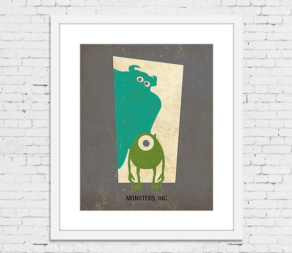 Monsters inc minimalist poster